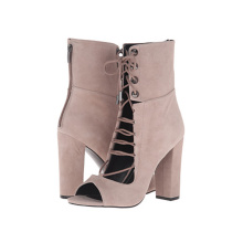 real leather lace strappy summer booties sandals