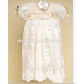 Enfant Princesse Robe Princesse Pour 0-2 ans Bébé Infantile Fille Baptême Robe De Mariage Pageant Robe Avec Chapeau