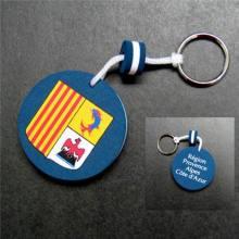 round blue  eva keychains