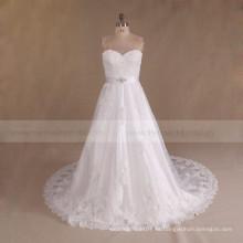 Alibaba Sweetheart baratos moldeado más vestido de novia de tamaño 2017