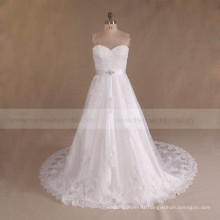 Alibaba Sweetheart Cheap Beaded Plus Size Wedding Dress 2017