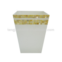 ade of mother of pearl shell seashell home trash bin