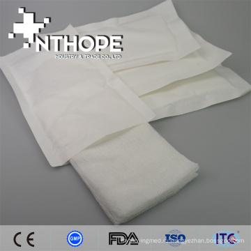 чистый хлопок медицинский стерильный марлевый тампон для хирургического вмешательства
