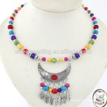 Antike ramel Tropfenkragen Palästina Halskette