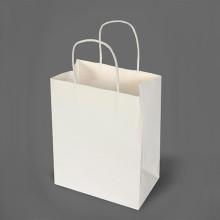 Sac à main en papier blanc Kraft Paper avec poignée