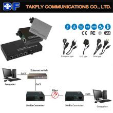 Convertidor óptico de los medios de la fibra 10/100 / 1000m de la alta calidad