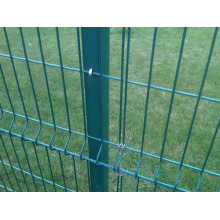 3D folded wire mesh fence with stainless steel clips