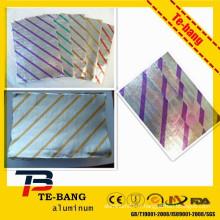 Meilleur prix emballage imprimé personnalisé en papier papier d'aluminium papier papier d'aluminium emballage Roll With Broad Market