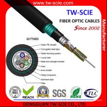 Cable de fibra óptica de doble envoltura GYTA53 Direct-Burial