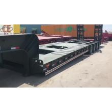 Trailer de caminhão com cama baixa de 4 linhas e 8 eixos