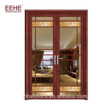 Französische Aluminiumverglasung Fenster und Türen doppelt offen