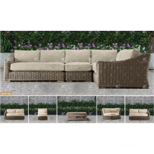 ALAND COLLECTION - 2017 Resin PE Wicker outdoor furniture corner sofa set for Outdoor Garden Furniture