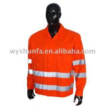 Vêtements de travail de sécurité réfléchissante à haute visibilité