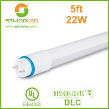 Tubo do diodo emissor de luz de 160lm / W Super Lens T8 com tampa plástica