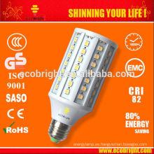 ¡CALIENTE! E27 15W blanco cálido LED lámpara Led lámpara de maíz 50000H CE calidad