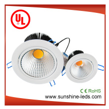 6W / 30W Dimmable Pure White Ajustable COB LED Down Lighting