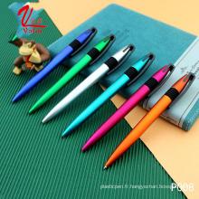 Stylo à bille de logo adapté aux besoins du client par stylo en plastique promotionnel d'articles très chics de cadeau sur la vente