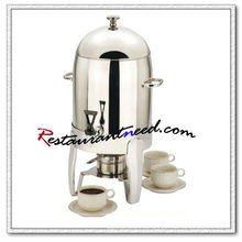 C101 10.5L Stainless Steel Coffer Urn With Burner / Milk Dispenser Machine
