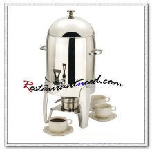 C101 10,5L aço inoxidável cofre urna com queimador / máquina de distribuição de leite