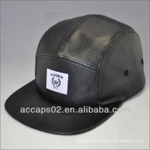 Heiße benutzerdefinierte billige Leder 5 Panela Hut
