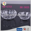 Unregelmäßig geformte Kristallglasschüssel