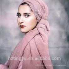 Mejor venta al por mayor hijab moda musulmán chal hijab arruga algodón hijab