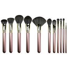 11PC Luxury Copper Makeup Brush Set