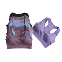 2021 Simple design women gym fitness bra top seamless breathable workout ladies yoga cloth running sport vest
