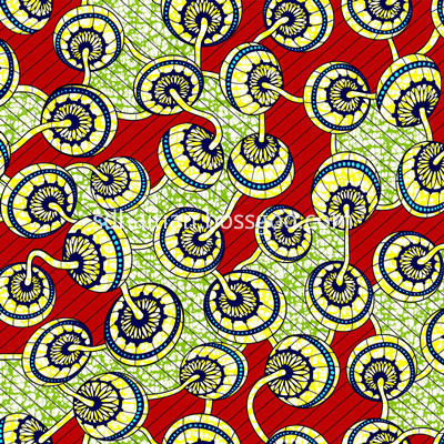 Cotton Wax Printed Fabric