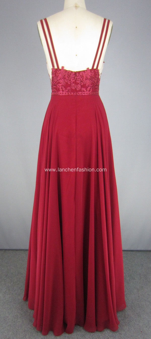 Red Chiffon Evening Dresses Red Carpet Dresses