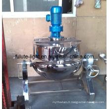 Mélangeur à cuisson industrielle SUS304 à vapeur
