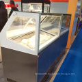 glass door freezer commercial display showcase