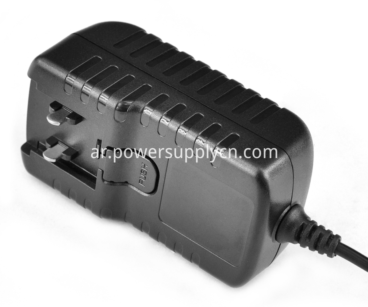 12V 2A Interchangeable plugs power adapter supply