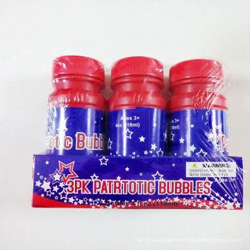 3pcs al por mayor colorido divertido DIY juego de burbujas de agua interior del juguete