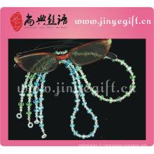 Cristal perlé brillant lecture Gbling Bling lunettes chaîne