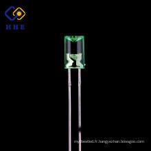 Prix concurrentiel 5mm super lumineux vert concave led diode