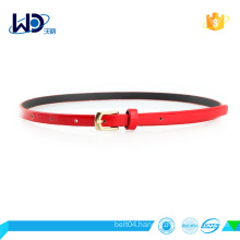 fashion shinny pu belt garment belt for lady