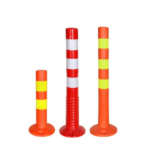 Highly Visible Reflective Traffic Safety Flexible Delineator, Plastic Bollard Warning Post/
