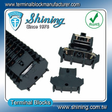 Conector de cabo de áudio de nível duplo de 25 mm DIN-Rail DIN-025