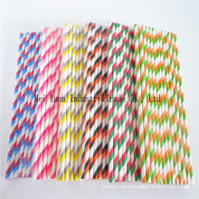 Double Striped Paper Drinking Straws for Party Supplies