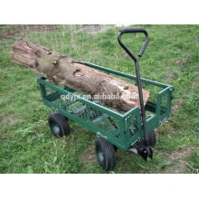 Heavy Duty Outdoor Green Garden Cart Truck Tipper Dumper 4 Wheel Mesh Side panels