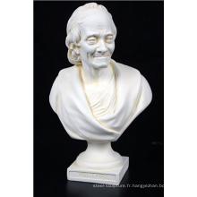 décoration de la maison marbre voltaire statue buste houdon sculpture