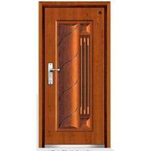 Projeto clássico da porta de madeira de aço da armadura