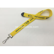 Populär Custom Silk-Screen Polyester Lanyard