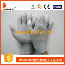 Kohlefaser-Handschuhe weiß PU beschichtet auf Finger Dpu220