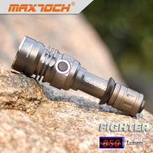 Maxtoch FIGHTER identificador 007 Cree lanterna LED recarregável alumínio