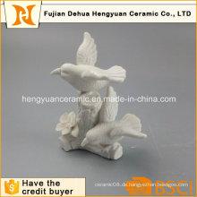 Garten Dekoration Weiß Keramik Vogel Handwerk