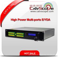 32ports Alta potencia 1550nm 2u Erbium Ytterbium Amplificador óptico Co-Doped EDFA