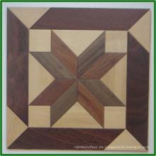 Precios de piso de parquet de madera impermeables de color primario liso Jeddah