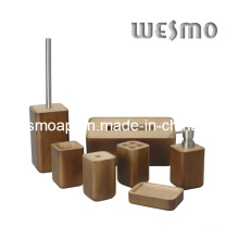 Accessoire de salle de bain en caoutchouc en bois (WBW0444A)